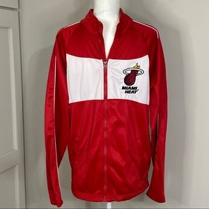 Miami Heat Red & White Sport Jacket Medium